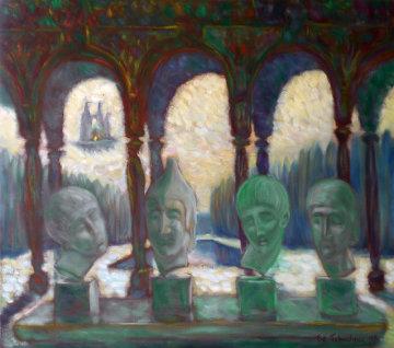 Greek Antiquity in Istanbul, Turkey 1996 Original Painting by Edward Tabachnik