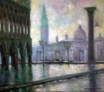 Piazzetta San Marco 2002 32x36 Original Painting - Edward Tabachnik