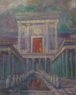 Herod's Temple in Jerusalem 2001 40x32 Super Huge Original Painting - Edward Tabachnik