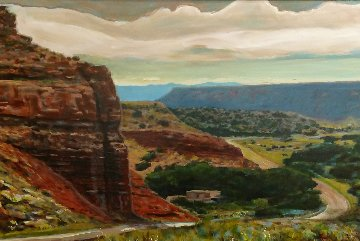 Near Abiquiu 2015 31x43 New Mexico Original Painting - Jeff Tabor