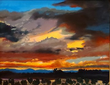 Multicolored Sky 2019 21x25 Original Painting by Jeff Tabor