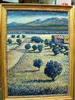 Tierra Contenta (Happy Land) 2012 46x35 Super Huge Original Painting by Jeff Tabor - 1