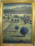 Tierra Contenta (Happy Land) 2012 46x35 Super Huge Original Painting by Jeff Tabor - 2