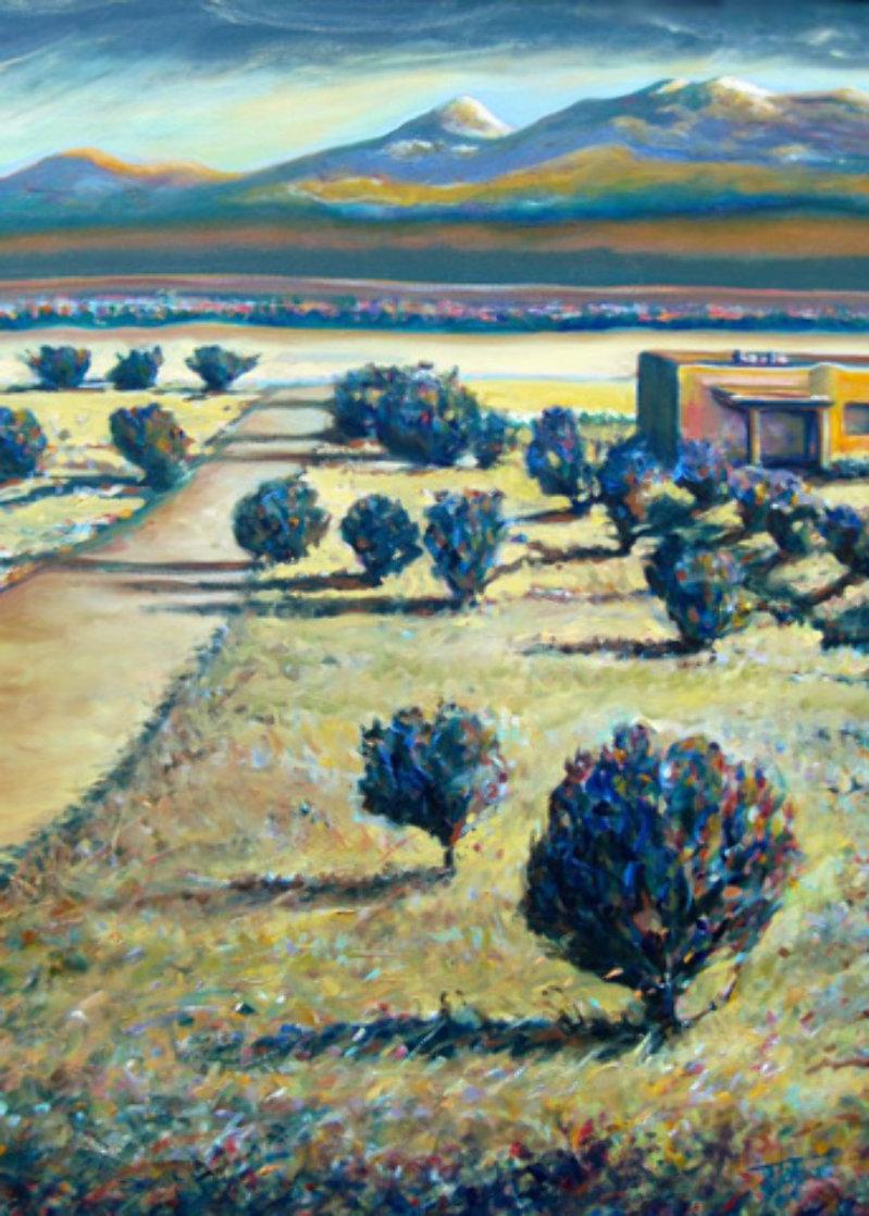 Tierra Contenta (Happy Land) 2012 46x35 Super Huge Original Painting by Jeff Tabor