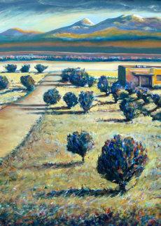Tierra Contenta (Happy Land) 2012 46x35 Huge Original Painting - Jeff Tabor