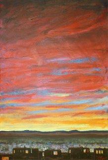 Tierra Contenta 2009 48x38 Huge Original Painting - Jeff Tabor