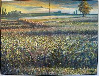 Green Hill Diptych 2003 37x49 Original Painting by Jeff Tabor - 1