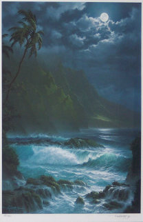 Moonlight Rhapsody Hawaii 1993 Limited Edition Print by Roy Tabora