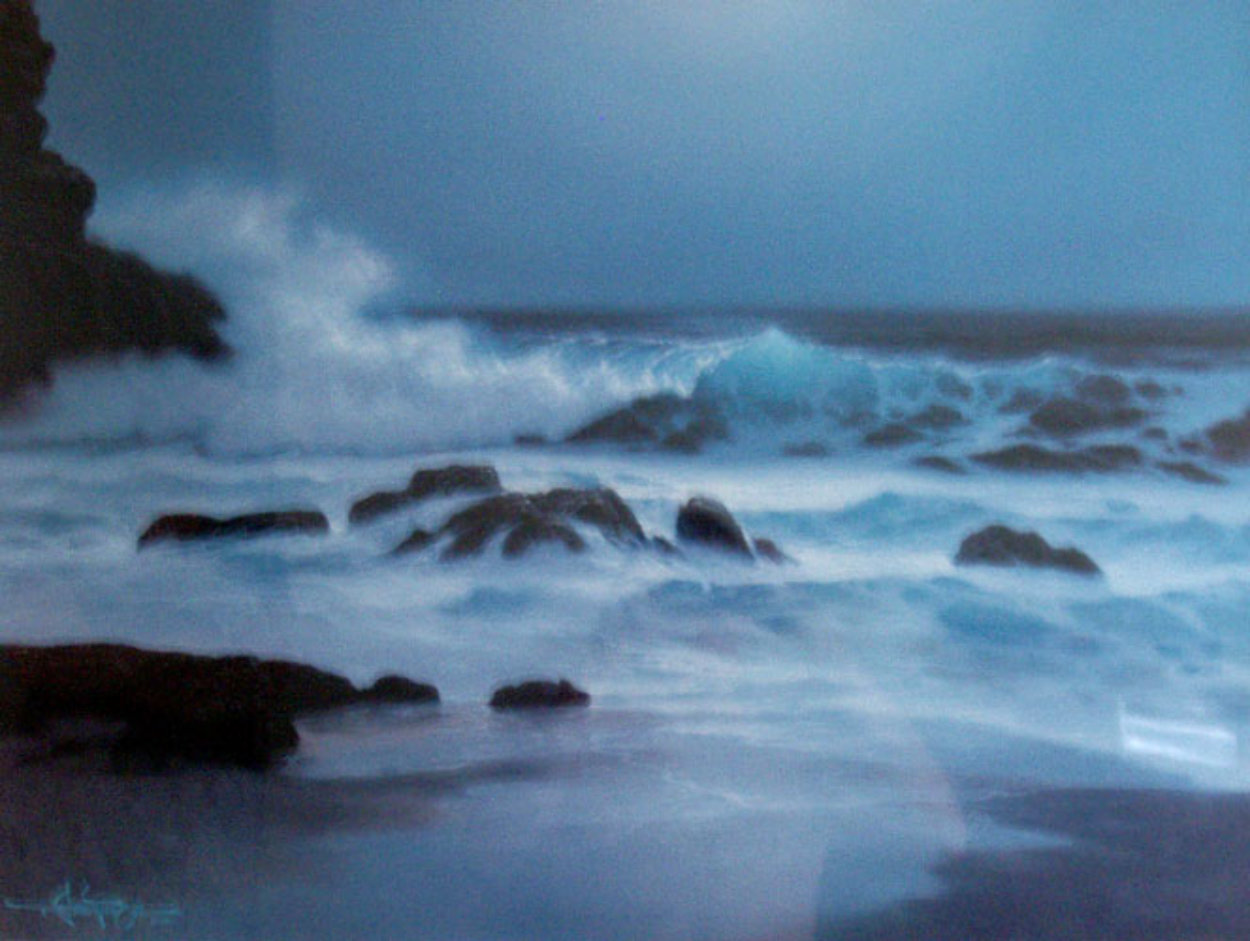 Pensive Hawaii 1992 w Remarque Limited Edition Print by Roy Tabora