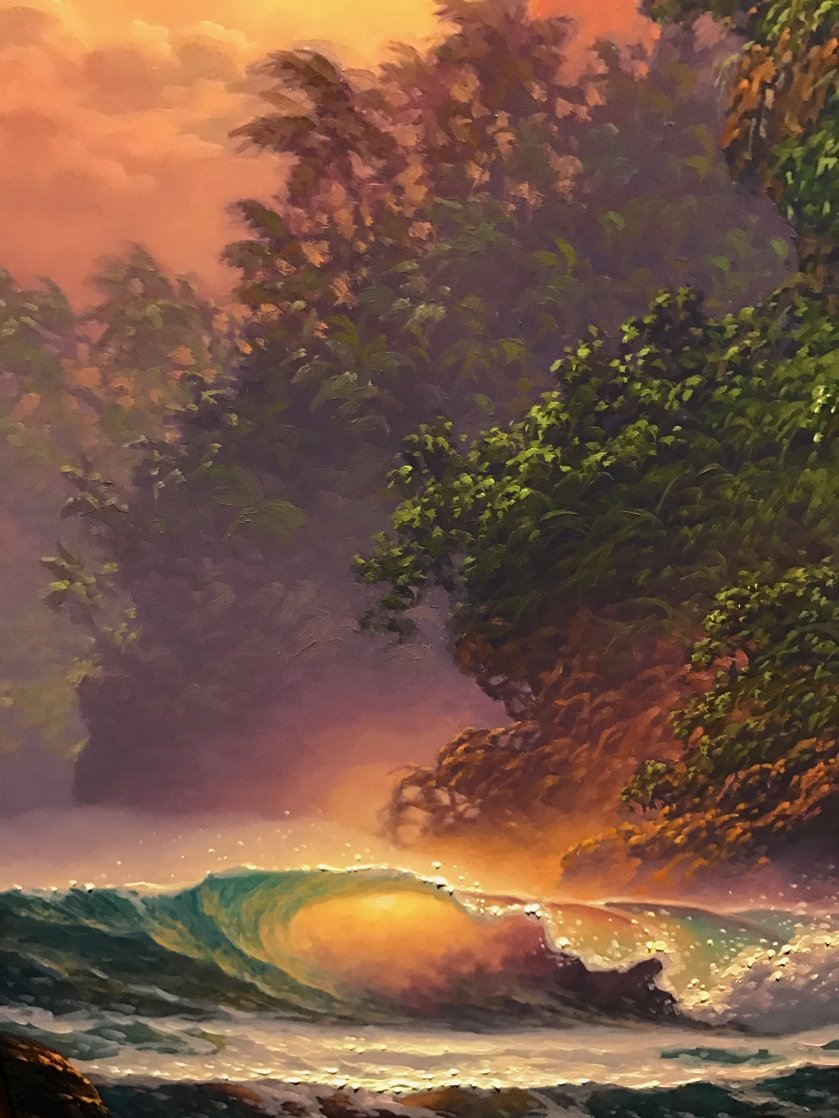 Surging in the Summer Glow 34x22 Original Painting by Roy Tabora