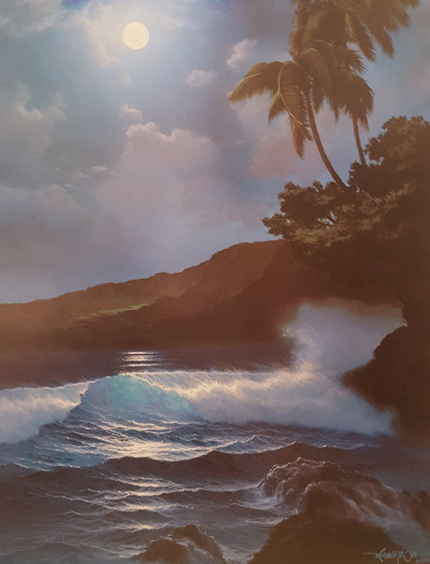 Reflection of a Tropical Moon  AP 1989 Limited Edition Print by Roy Tabora
