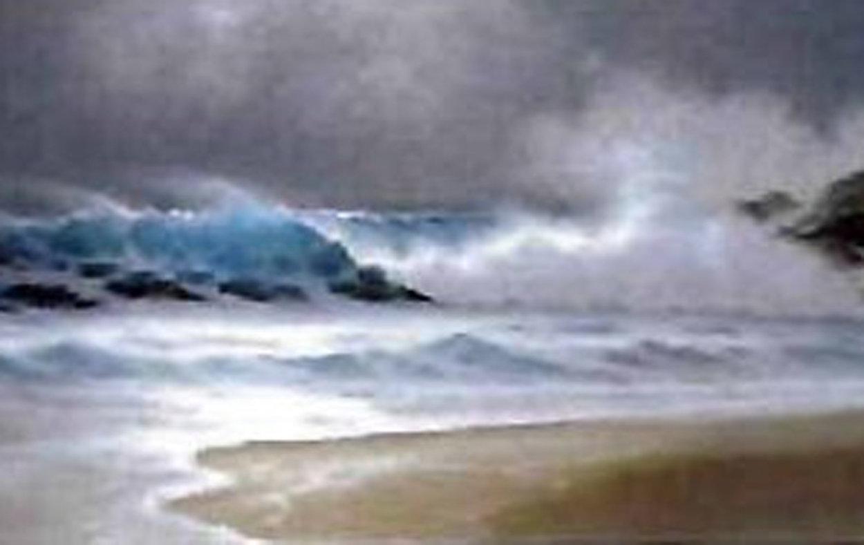Rhythm of the Midnight Sea 1992 Limited Edition Print by Roy Tabora