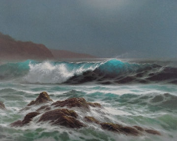 Moonlit Surf Limited Edition Print - Roy Tabora