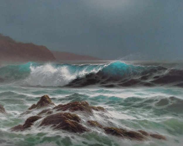 Moonlit Surf Limited Edition Print by Roy Tabora