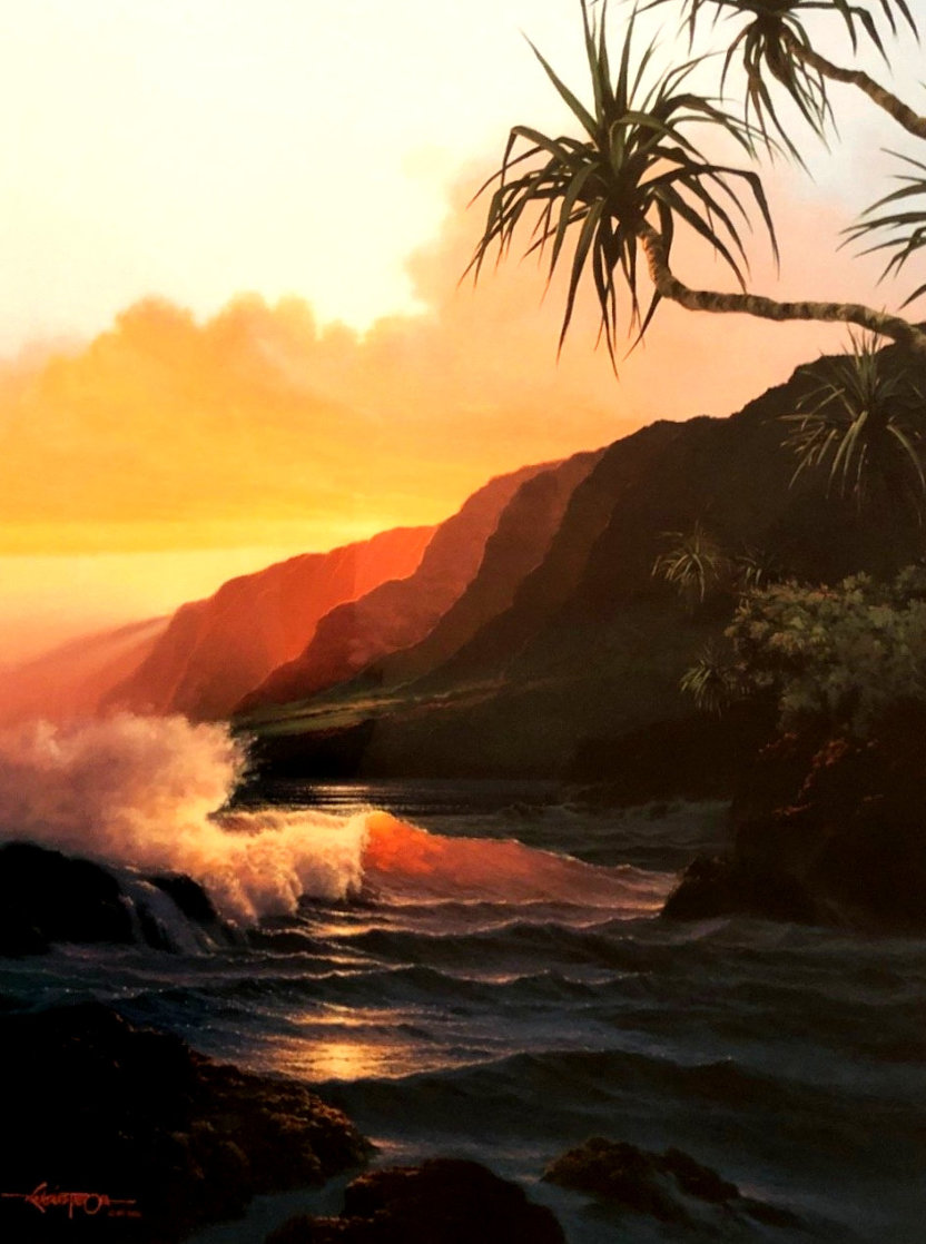 Last Rays of Summer Hawaii 1986 Limited Edition Print by Roy Tabora