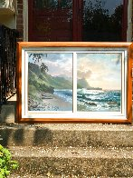 Forever Paradise Diptych 36x52 Huge  Limited Edition Print by Roy Tabora - 1