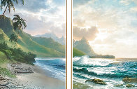 Forever Paradise Diptych 36x52 Huge  Limited Edition Print by Roy Tabora - 0