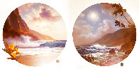 Daybreak And Moonrise, Suite of 2 Prints, Embellished Remarque Limited Edition Print by Roy Tabora - 0