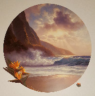 Daybreak And Moonrise, Suite of 2 Prints, Embellished Remarque Limited Edition Print by Roy Tabora - 1