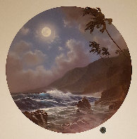 Daybreak And Moonrise, Suite of 2 Prints, Embellished Remarque Limited Edition Print by Roy Tabora - 2