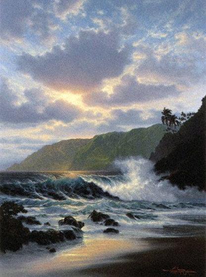 ROY TABORA HAWAII OCEAN TIDE WINDS Limited Edition Art Giclee on Canvas Hawaiian
