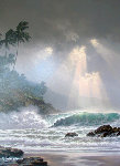 Through Days of Gray  Hawaii 2002 Embellished Limited Edition Print - Roy Tabora