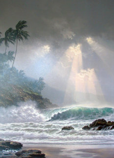 Through Days of Gray  Hawaii 2002 Embellished Limited Edition Print by Roy Tabora