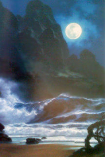 When the Night Calls Hawaii 1996 Embellished Limited Edition Print by Roy Tabora