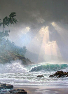 Through Days of Gray  Hawaii 2000 Embellished Limited Edition Print - Roy Tabora