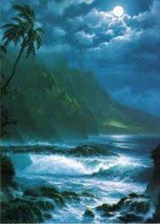 Moonlight Rhapsody  Hawaii 1993 Limited Edition Print by Roy Tabora