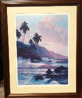 Evening Splendor  Hawaii 1985 Limited Edition Print by Roy Tabora - 3