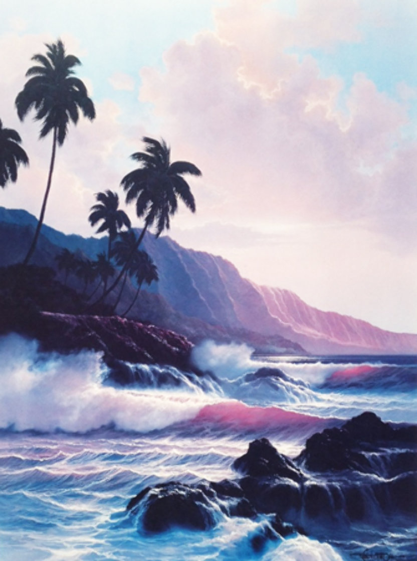 Evening Splendor  Hawaii 1985 Limited Edition Print by Roy Tabora