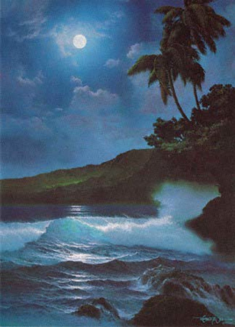 Reflections of a Tropical Moon 1987 w Remarque Limited Edition Print by Roy Tabora