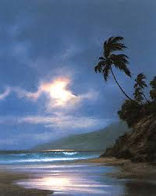 A  Gentle Surge  Greets the Morning Sun AP 1993 Limited Edition Print by Roy Tabora - 0