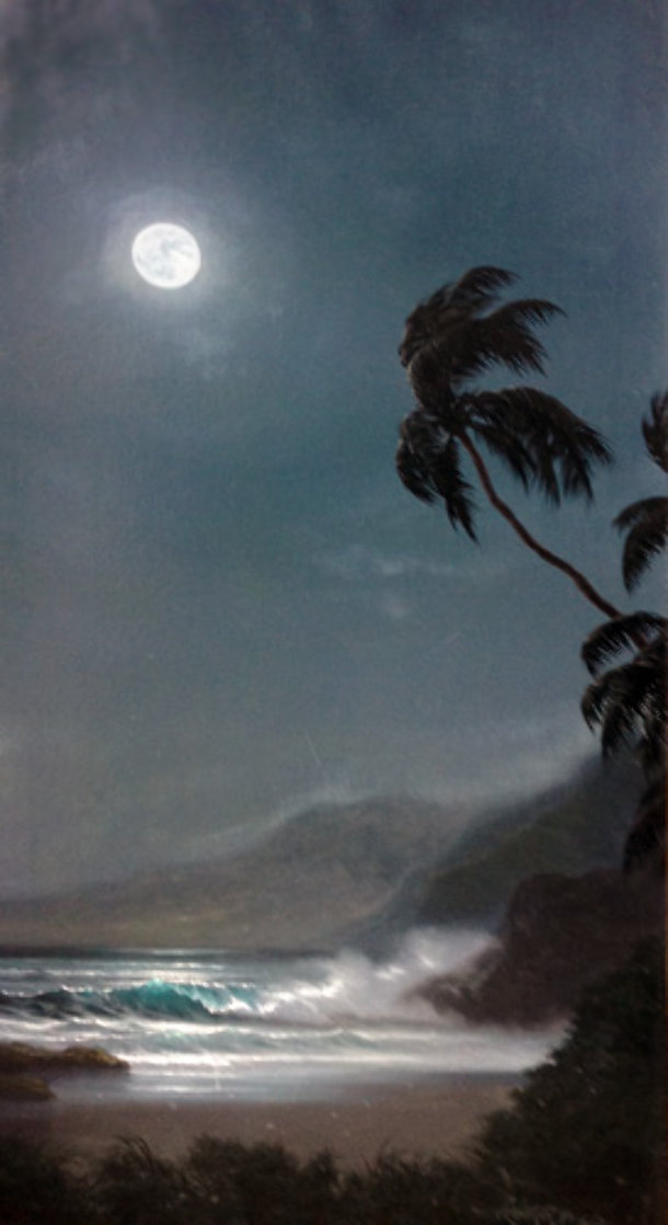 Beneath the Midnight Skies 1989 36x18 Original Painting by Roy Tabora