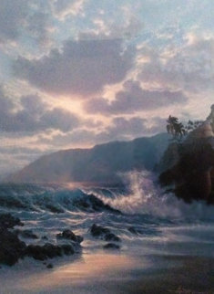 Island Rapture 1991 w Remarque Limited Edition Print by Roy Tabora