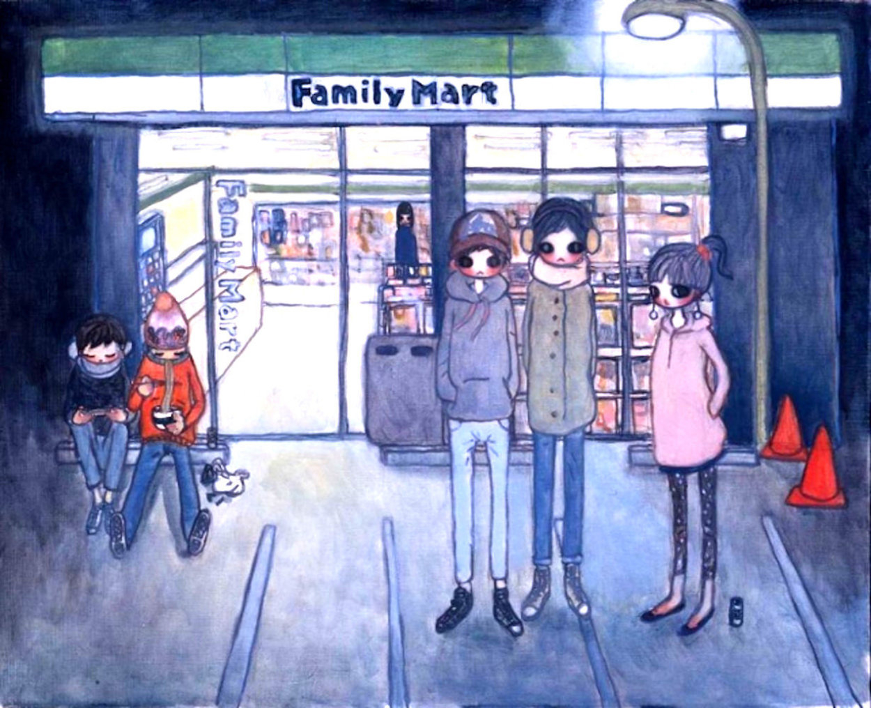 Convenience Store 2006 Limited Edition Print by Aya Takano