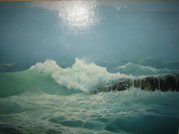 High Surf 1983 51x43 Original Painting - Seikichi Takara
