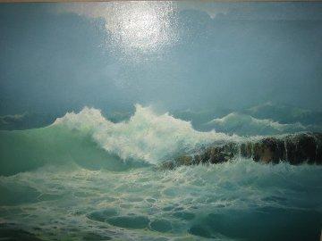 High Surf 1983 51x43 Huge Original Painting - Seikichi Takara
