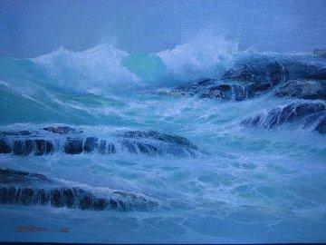 High Tide 1985 15x18 Original Painting - Seikichi Takara