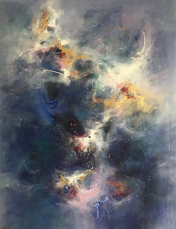 Cosmogony 1988 64x54 Super Huge Original Painting - Seikichi Takara