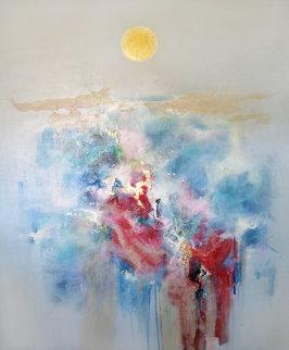 Fuyu No Tsuki (Winter Moon) 1987 61x51 Original Painting - Seikichi Takara