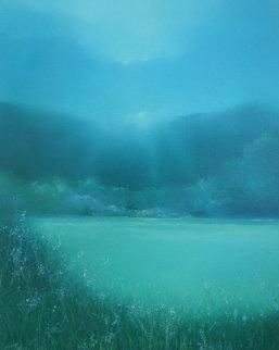 Lake Arakat 1983 36x30 Original Painting - Seikichi Takara