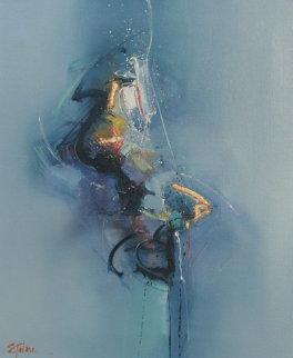 Tamashi (Spirit) 1989 38x25 Original Painting - Seikichi Takara