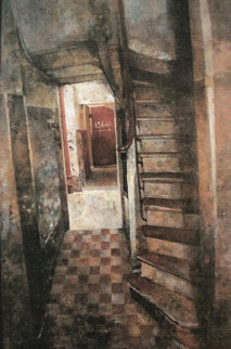 l'Esca Liere 136 Bis 2003 26x17 Original Painting - Chiu Tak Hak