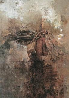 Padlock 2003 22x17 Original Painting by Chiu Tak Hak