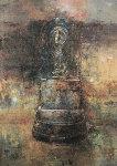 Fountain 2003 22x17 Original Painting - Chiu Tak Hak