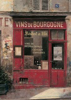 Burgundy Wine (Vins De Bourgogne) 1996 12x9 Original Painting by Chiu Tak Hak
