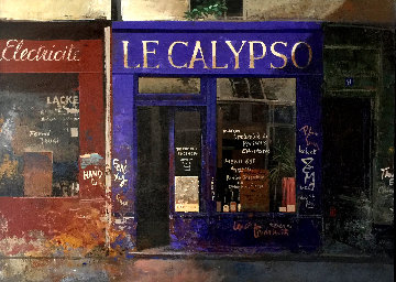 Calypso 1997 14x19 Original Painting by Chiu Tak Hak