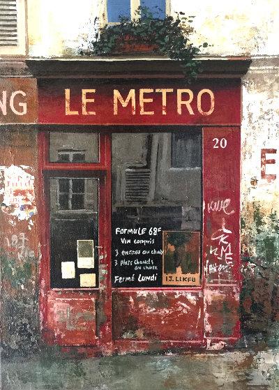 Le Metro 20 1997 14x11 Original Painting by Chiu Tak Hak